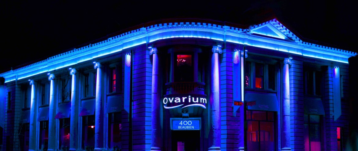spa ovarium nuit del led bleu blue