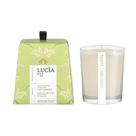 Lucia soy soja candle bougie chandelle euca