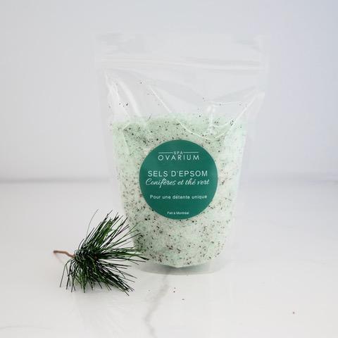 sel epsom thé vert conifères